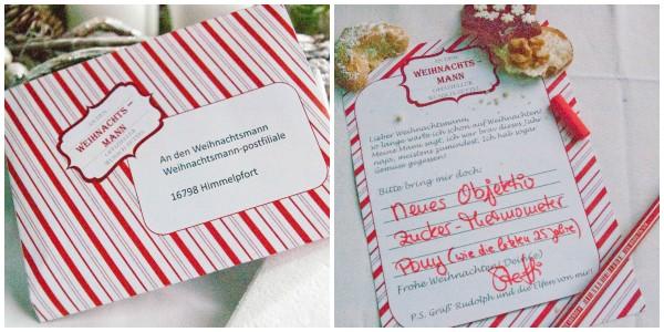 Freebie: Wunschzettel an den Weihnachtsmann
