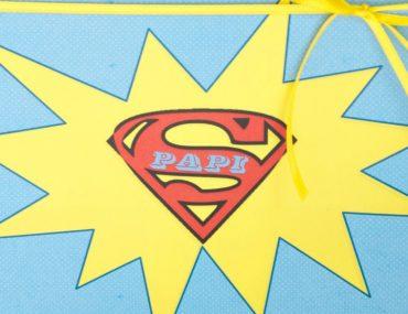 Lieber Super-Papi, Du bist mein Held: ein DIY Vatertags-Geschenk