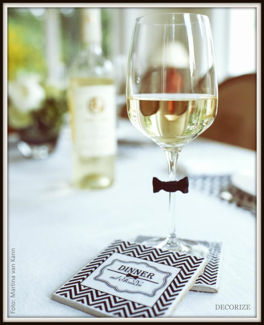 Tolle Partystyling-Ideen für ein Dinner mit Freunden; DIY Coaster