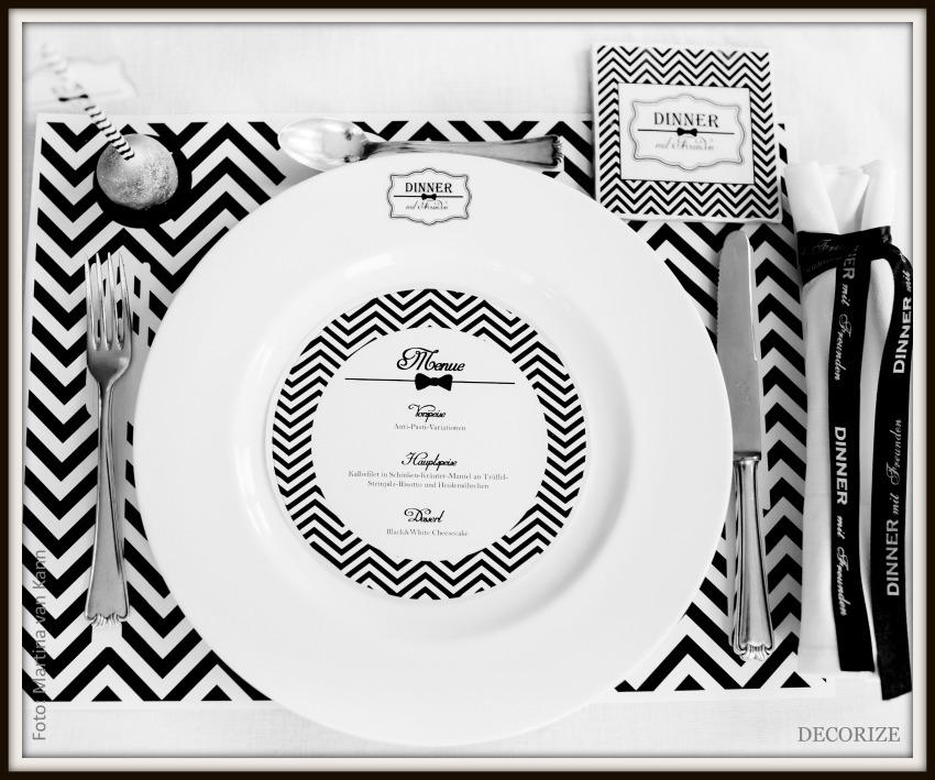 Tolle Partystyling-Ideen für ein Dinner mit Freunden: Tischdeko