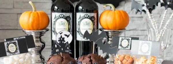 Von Spinnenblut und Knochensalat - unser Halloween-Buffet *mit Printables*