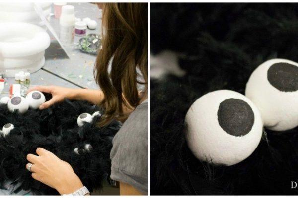 Jetzt wird's gruselig - DIY Monster Türkranz für Halloween