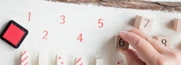 DIY Adventskalender aus einer Rancherzaunbohle