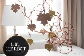 Goldender Herbst - Glitzernde Herbstblätter für graue Tage