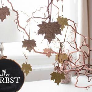 Goldender Herbst – Glitzernde Herbstblätter für graue Tage
