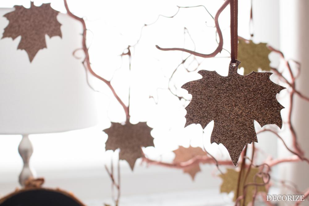 glitzernde Herbst-Deko mit Download
