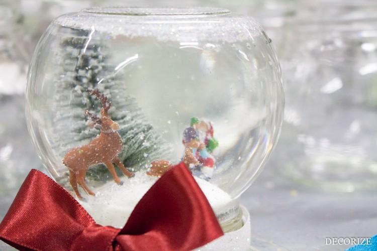 DIY Schneekugel zu Weihnachten