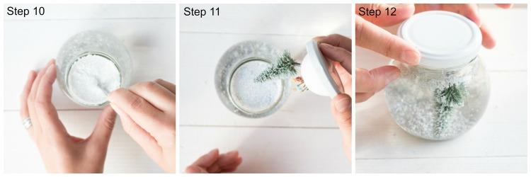 Schneekugel Step 10-12