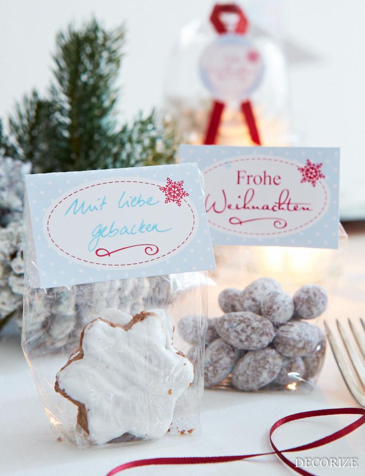 Tischdeko für Weihnachten - easy und schnell mit der Schmück-Kiste