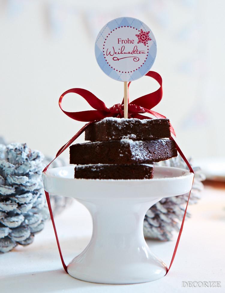 Tischdeko für Weihnachten: FoodPieker - easy und schnell mit der Schmück-Kiste