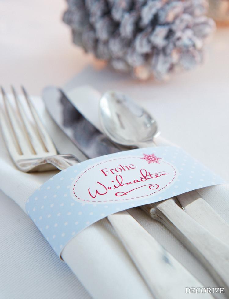 Tischdeko für Weihnachten: Serviettenringe - easy und schnell mit der Schmück-Kiste