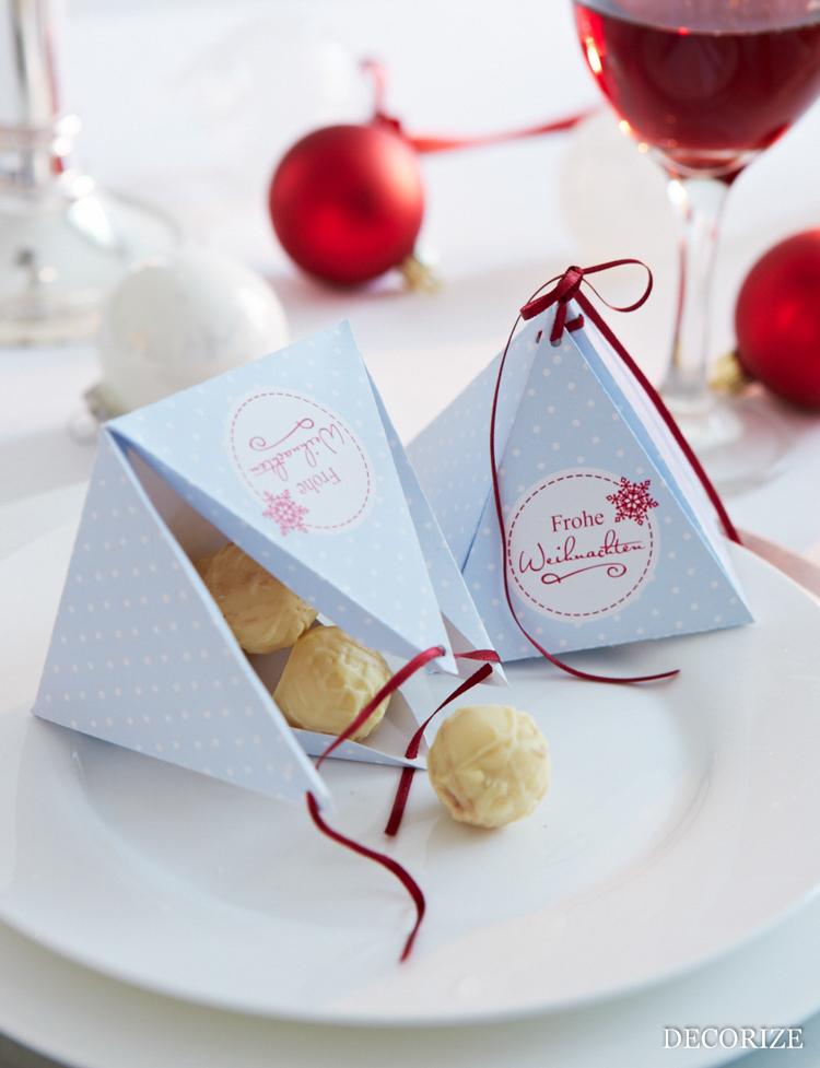 Tischdekoration zu Weihnachten: Geschenkverpackung - easy und schnell mit der Schmück-Kiste