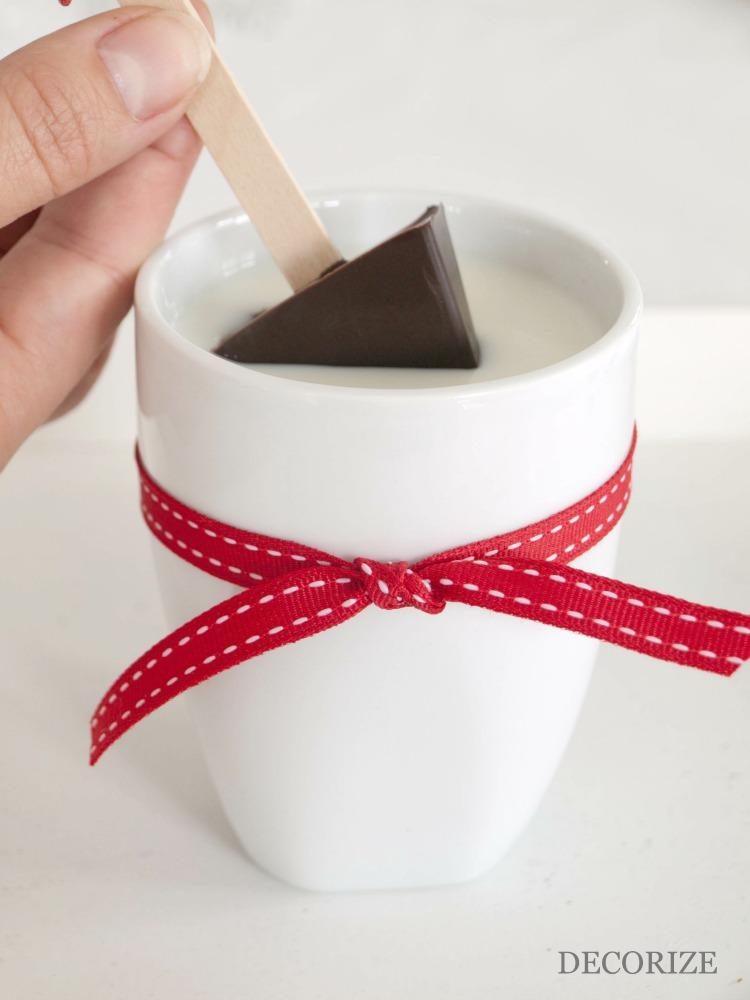 Schokolöffel für die heisse Schokolade