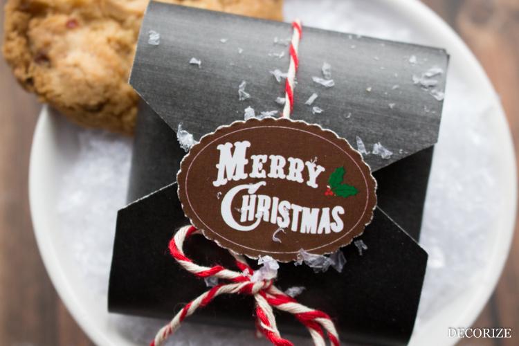 Free Download weihnachtliche Keksverpackung /Geschenkverpackung