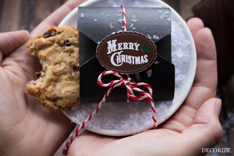 Free Download weihnachtliche Keksverpackung / Geschenkverpackung