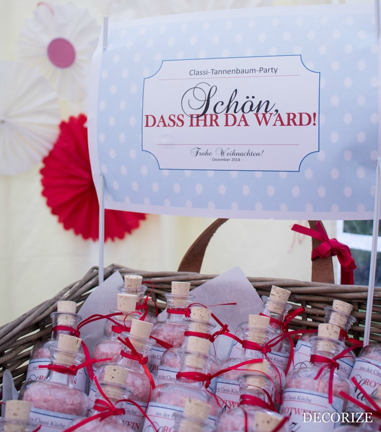 Rotwein-Salz als Gastgeschenk zur Tannenbaumparty