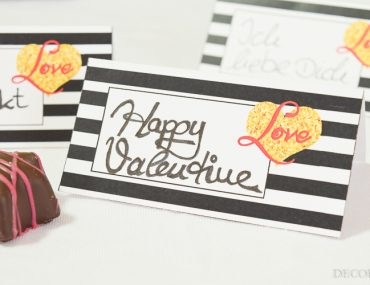 Love it and print it, Baby! - Party Printables für das Valentinstags-Dinner