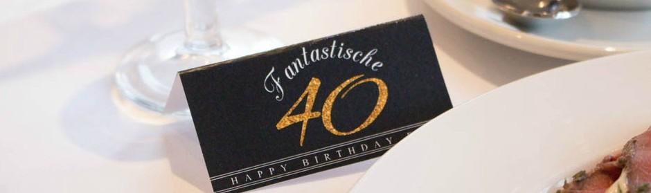 Tolle Tischdeko Fur Einen 40 Geburtstag