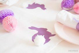 DIY: Hasen-Popo Tischläufer für die Festtafel an Ostern