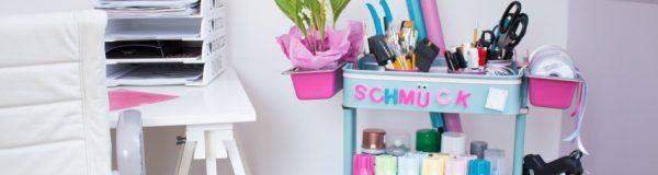 Chaos adé - Unsere Kreativ-Station aus dem IKEA-Servierwagen
