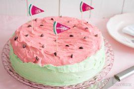 Holy Melony! Eine Wassermelonen-Torte als Hingucker auf jeder Sommerparty PLUS Printable Freebie
