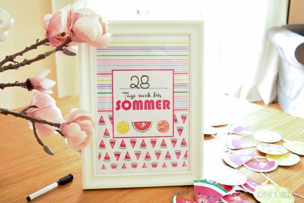 Der Summertime-Countdown läuft - Unser Sommerstart-Kalender {*Freebie*}