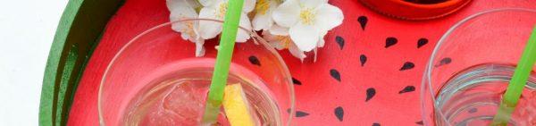 Ich hab' ein Wassermelonen-Tablett getragen... - tolles Sommer-DIY