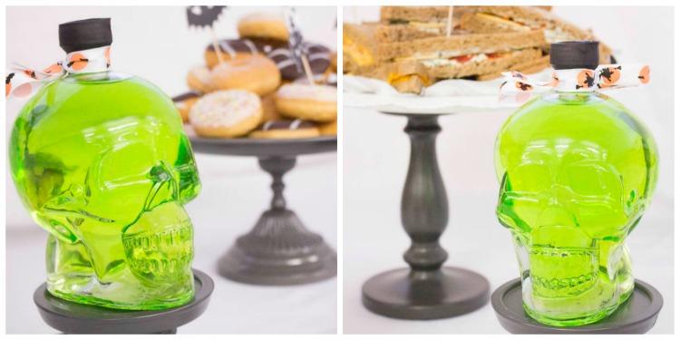 Buffet collage flasche