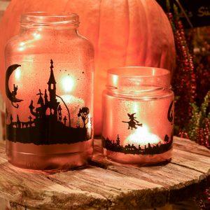 Schaurig-schön: DIY Halloween Windlichter
