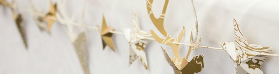 Oh Tannenbaum Auf Englisch.Weihnachtliches Partystyling In Gold Und Weiß