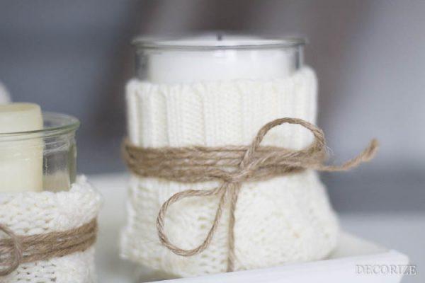 Homestyling: Den Winter durchhalten mit einem DIY für Kuschel-Kerzen