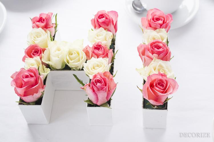 Decorize Frühling Blumen Tischdeko Buchstaben (10 von 19)