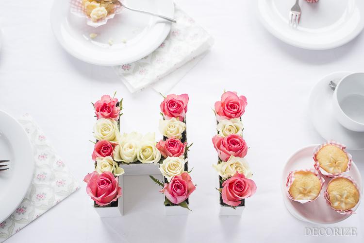 Decorize Frühling Blumen Tischdeko Buchstaben (13 von 19)