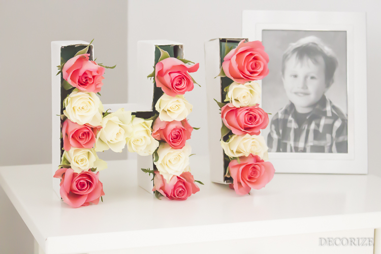 Decorize Frühling Blumen Tischdeko Buchstaben (16 von 19)