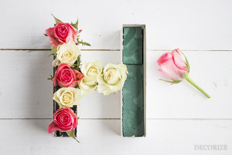 Decorize Frühling Blumen Tischdeko Buchstaben (7 von 19)