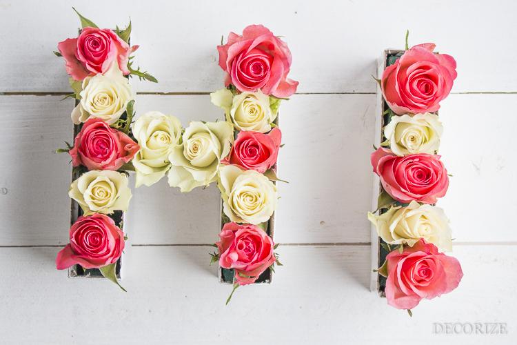 Decorize Frühling Blumen Tischdeko Buchstaben (8 von 19)