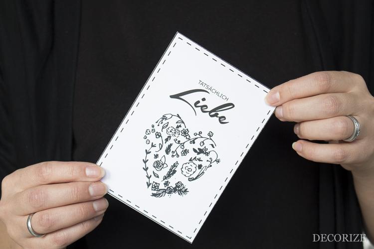 Love Letter - Printable: Valentinstags-Karten