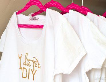 Goldige Statement Shirts - DIY mit Plotterfolie