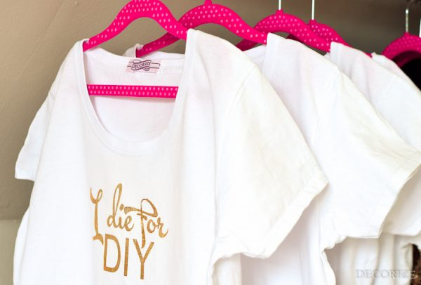 Goldige Statement Shirts - DIY mit Plotterfolie