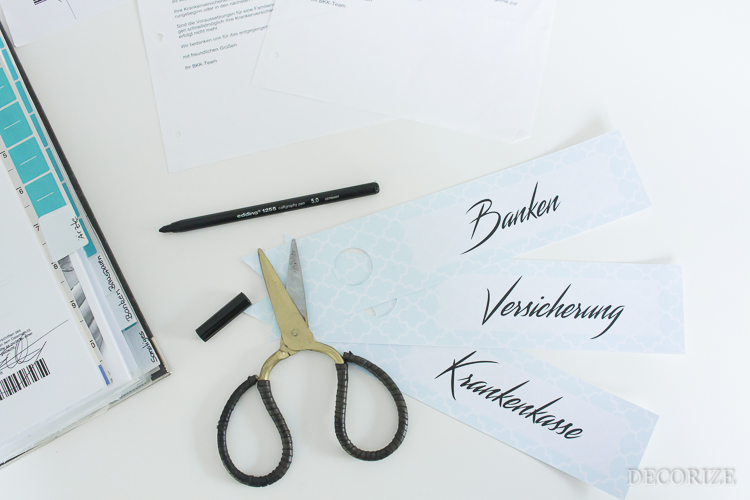 Decorize DIY Ordner Freebie