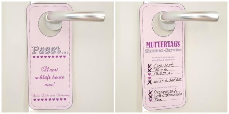 Muttertag Türschild Collage