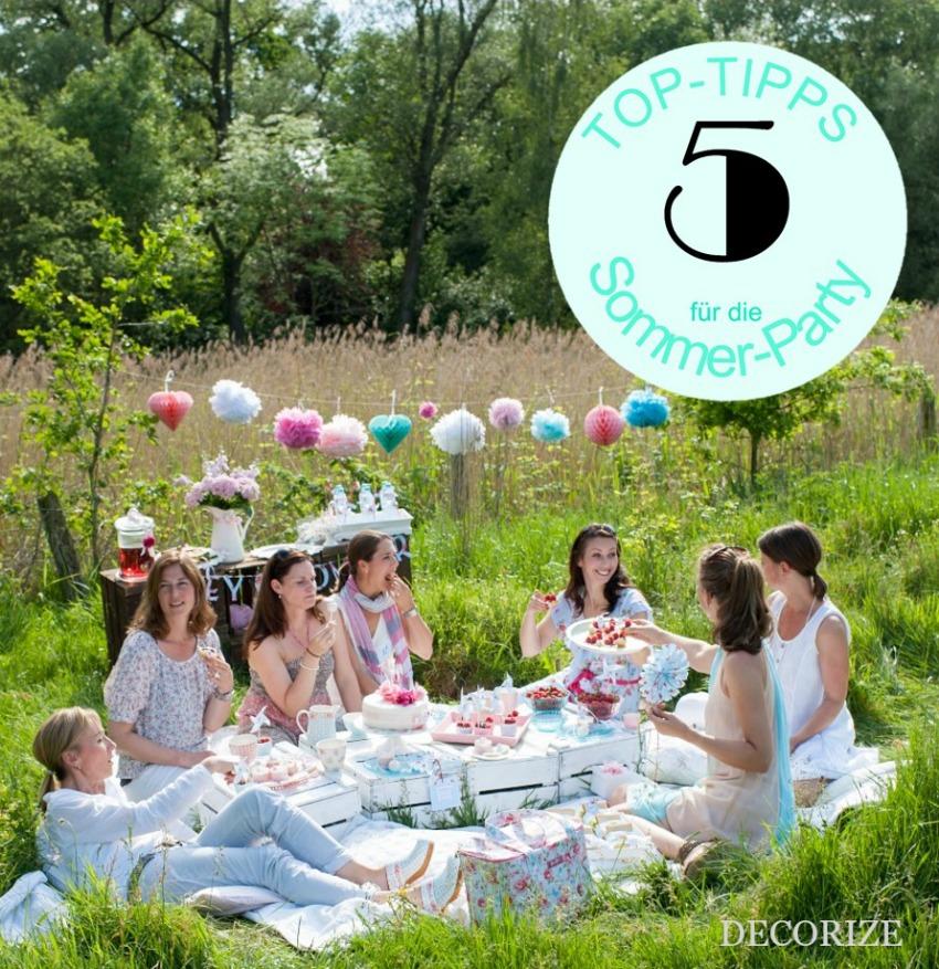 5 Top-Tipps für die perfekte Sommerparty