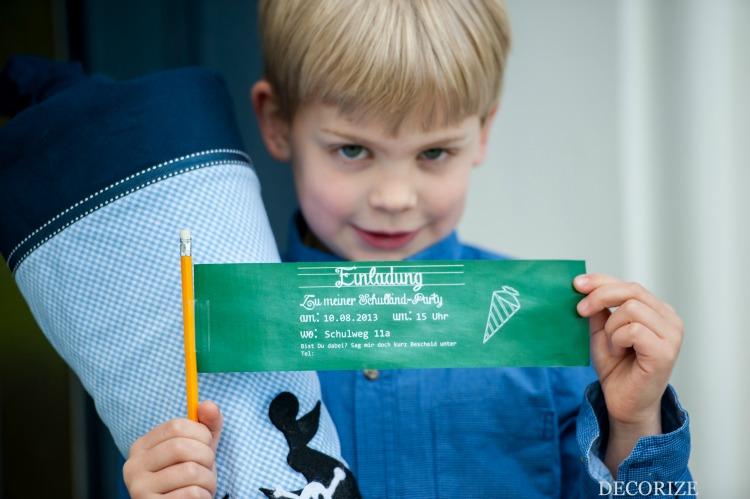Einschulung Schulparty Einladung
