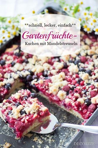 Schnell, einfach, lecker: Gartenfrüchte-Kuchen