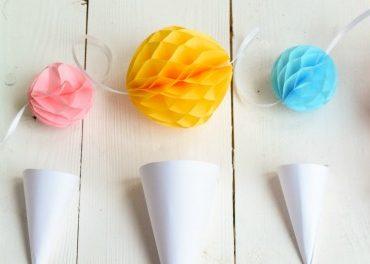 Eis am Schnürchen: DIY Eistüten-Girlande