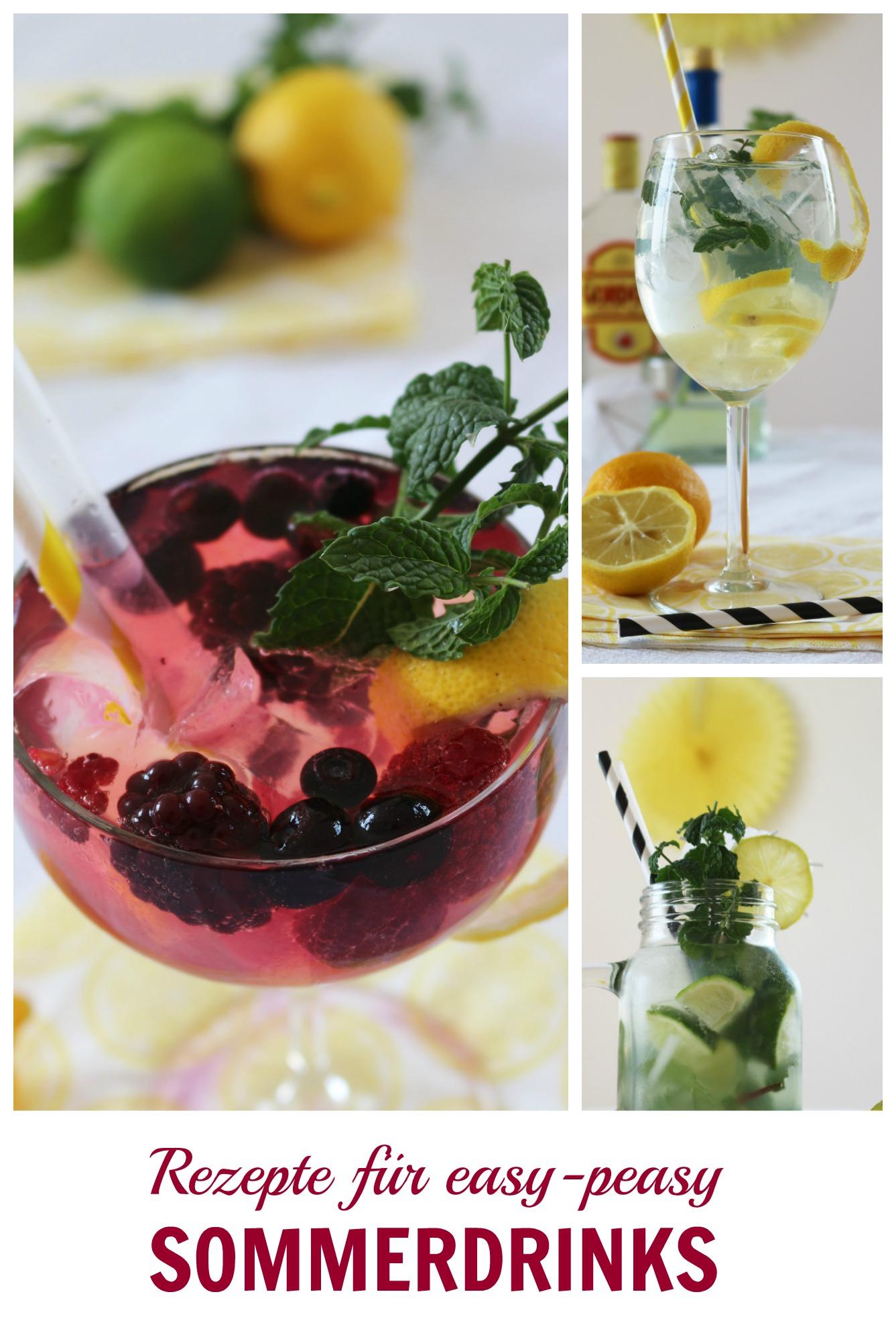 Rezepte für easy-peasy Sommerdrinks