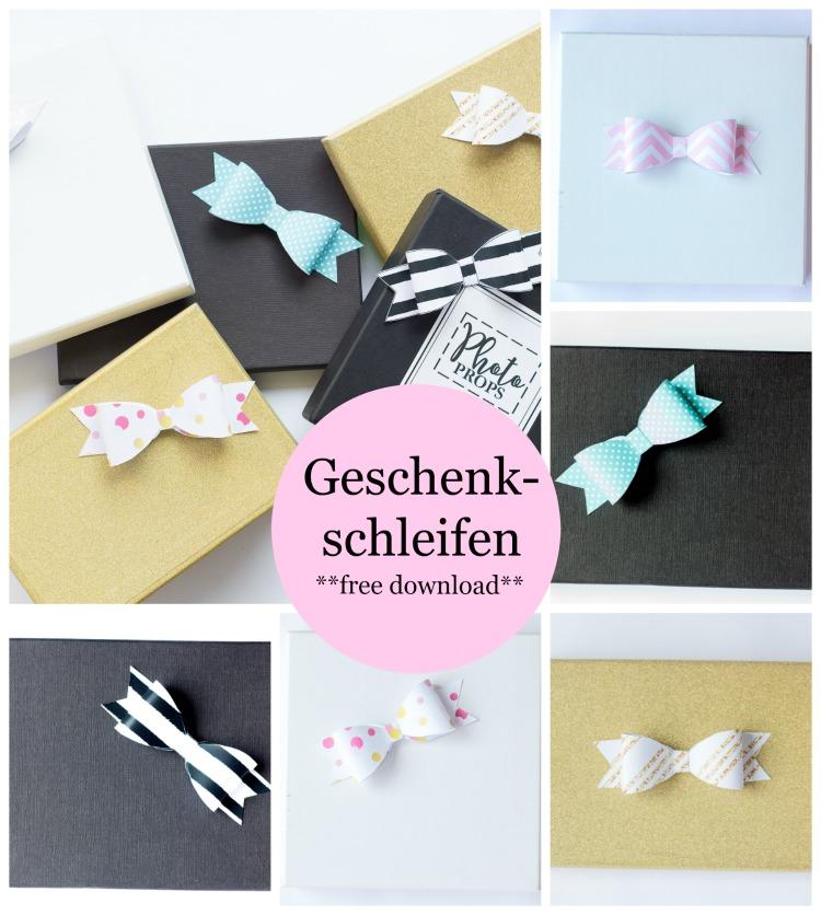 Freebie: Geschenkschleifen Printable in 5 Designs