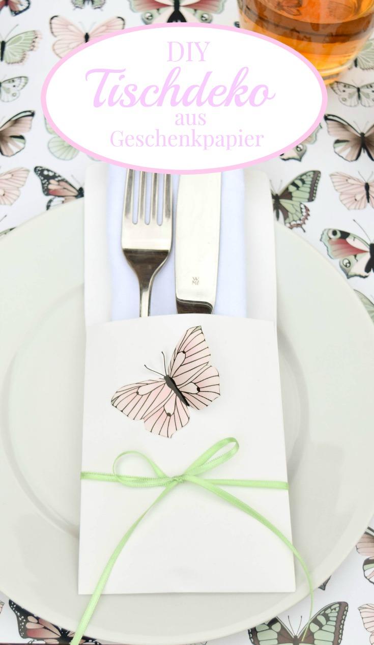 Tischdeko aus Geschenkpapier by Decorize