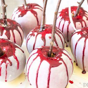 Achtung Grusel-Gefahr: Blutige Äpfel für Halloween