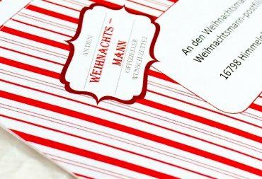 Freebie: Wunscherfüllung - Offizieller Wunschzettel an den Weihnachtsmann